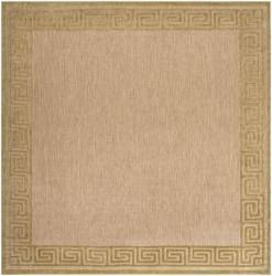 Woven Charlestown Indoor/Outdoor Geo Border Rug (7'6 Square)
