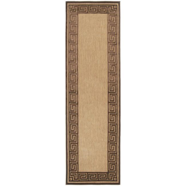 Woven Newbury Indoor/Outdoor Geo Border Rug (2'6 x 7'10)