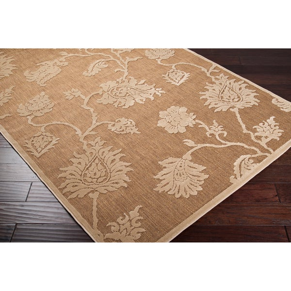 Woven Brookline Indoor/Outdoor Floral Rug (5' x 7'6)