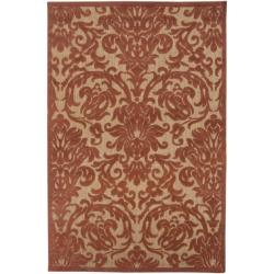 Woven Roxbury Indoor/Outdoor Damask Print Rug (3'9 x 5'8)