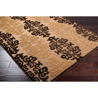 Woven Fenway Natural Indoor/Outdoor Damask Print Rug (5' x 7'6)