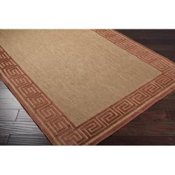 Woven Allston Indoor/Outdoor Geo Border Rug (5' x 7'6)