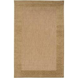 Woven Charlestown Indoor/Outdoor Geo Border Rug (8'8 x 12')
