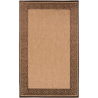 Woven Newbury Indoor/Outdoor Geo Border Rug (3'9 x 5'8)