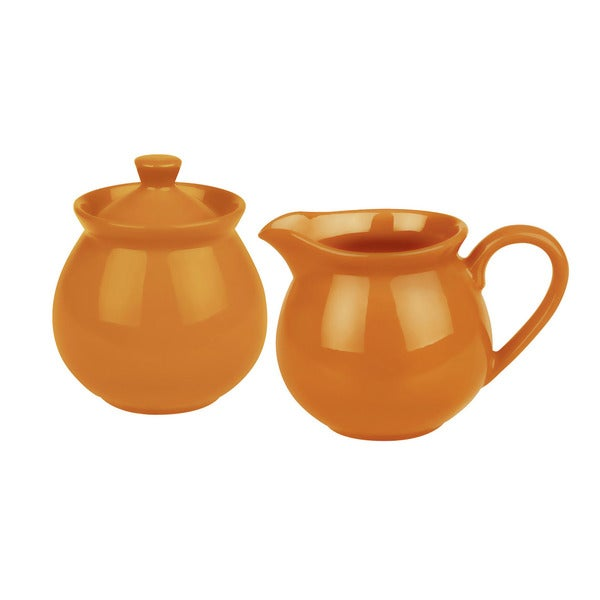 Waechtersbach Fun Factory Orange Creamer and Sugar Set
