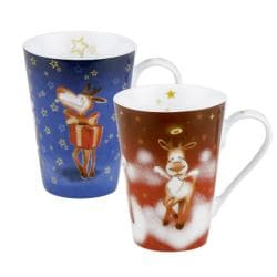 Konitz Rudi in the Sky and I am Rudi Mugs (Set of 2)