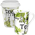 Konitz Tea to Stay and Tea to Go Tea Collage Mugs (Set of 2)