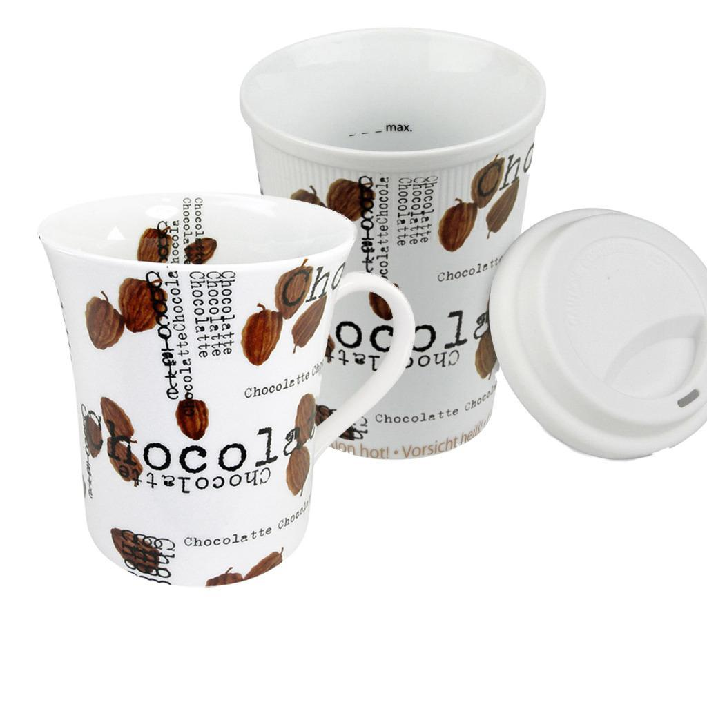 Konitz Coffee to Stay/Coffee to Go Chocolatte Mugs (Set of 2)