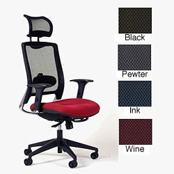 Ergocraft ECO7.5 Upholstered AirMesh Fabric Seat Headrest Mesh Chair