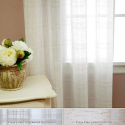 Faux Linen Grommet 84-inch Curtain Panel Pair