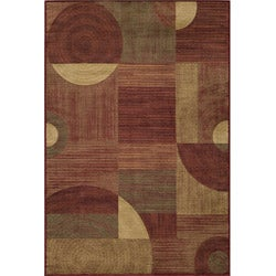 Power-loomed Illusion Red Rug (2' x 3')