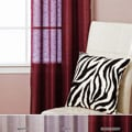 Faux Silk Sheer Grommet 84-inch Curtain Pair
