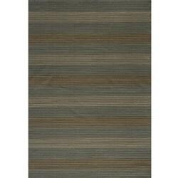 Illusion Stripe Blue Rug (2' x 3')