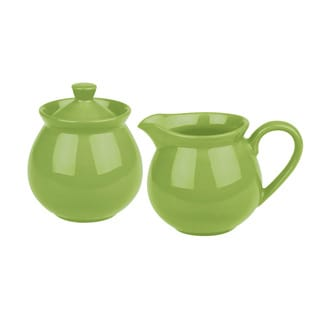Waechtersbach Fun Factory Green Apple Creamer and Sugar Set