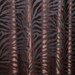 Zebra Jacquard Grommet 84-inch Room Darkening Curtain Pair
