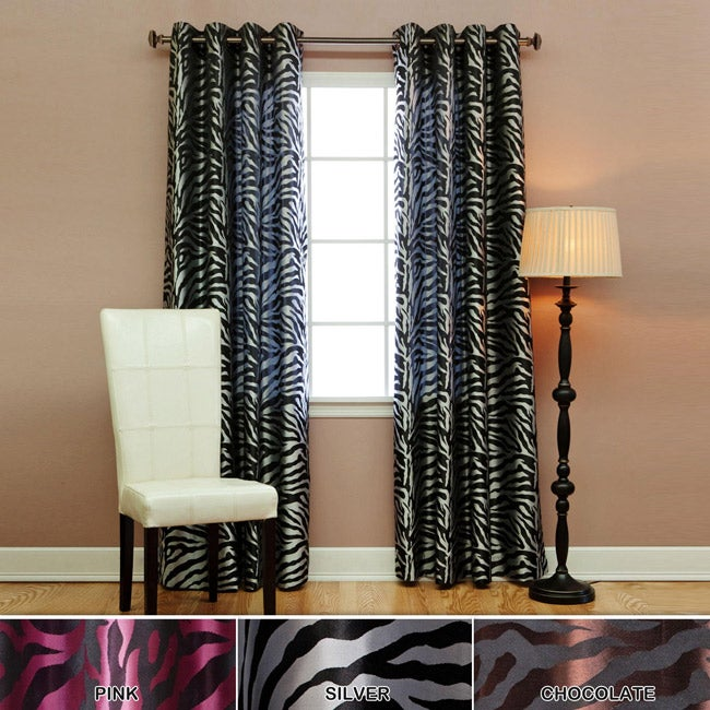 Zebra Jacquard Grommet 84-inch Room Darkening Curtain Pair at Sears.com