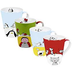 Konitz 'Globetrotter' Coffee Mugs (Set of 4)