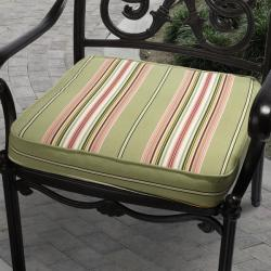 Isabella Lennar Green Outdoor Cushion with Richloom Fabric