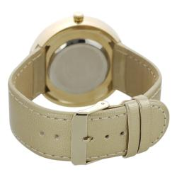 Geneva Platinum Women's Gold Simulated Patent Leather Watch