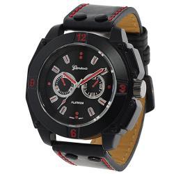 Geneva Platinum Men's Japanese Quartz Chronograph-Style Strap Watch