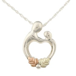 Black Hills Gold and Silver Mother and Child Necklace