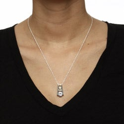 Black Hills Gold and Silver Clear Cubic Zirconia Necklace