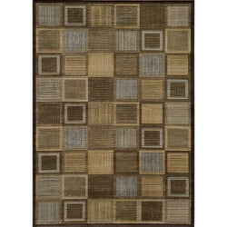 Illusion Blue Blocks Rug (5'3 x 7'6)