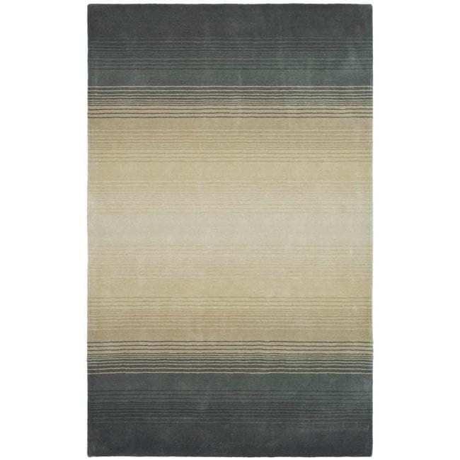 Martha Stewart Ombre Gradient Pewter/ Grey Wool Rug (4' x 6')