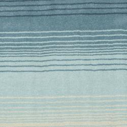 Martha Stewart Ombre Gradient Blue Wool Rug (4' x 6')