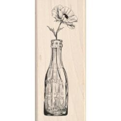 Inkadinkado 'Vintage Bottle Flower' Mounted Rubber Stamp