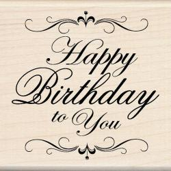 Inkadinkado Happy Birthday To You Mounted Rubber Stamp