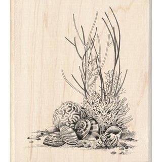 Inkadinkado Coral Mounted Rubber Stamp