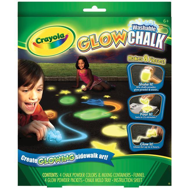 crayola washable glow chalk maker kit 13621298. Black Bedroom Furniture Sets. Home Design Ideas