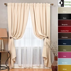 Blackout and Sheer 83-inch Curtain 4-piece Panel Set