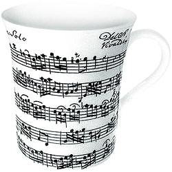 Konitz Vivaldi Libretto White Mugs (Set of 4)