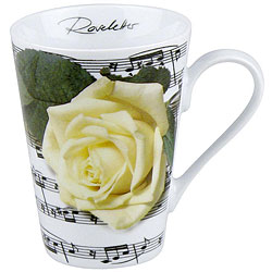 Konitz Roseletter White Mugs (Set of 4)