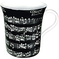 Konitz Vivaldi Libretto Black Mugs (Set of 4)