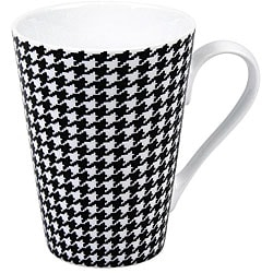 Konitz Escapada Hounds Tooth Mugs (Set of 4)