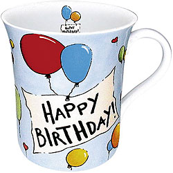 Konitz Happy Birthday Mugs (Set of 4)
