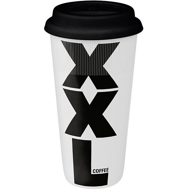 Konitz XXL on White Large Travel Mugs (Set of 4)