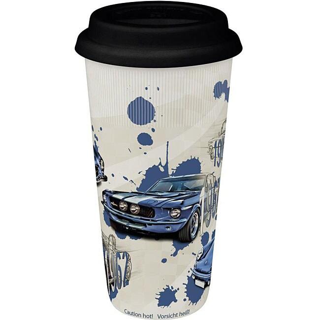 Konitz Legends on Wheels Blue Large Travel Mugs (Set of 4)