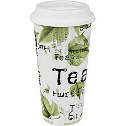 Konitz Tea Collage Large Travel Mugs (Set of 4)