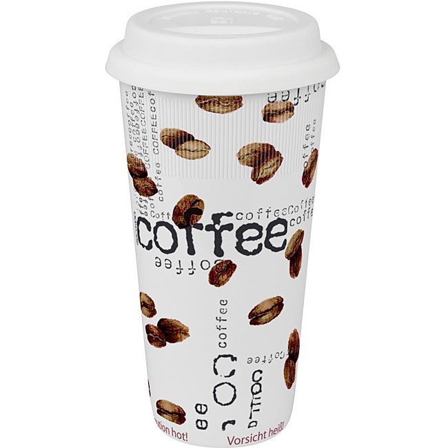 Konitz Coffee Collage Large Travel Mugs (Set of 4)