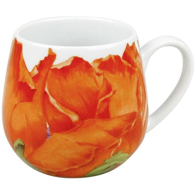 Konitz Poppy Blossom Snuggle Mugs (Set of 4)