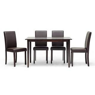 Susan 5-piece Brown Wood Modern Dining Set