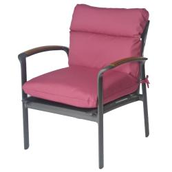 Mia Outdoor Mauve Chaise Patio Club Chair Cushion