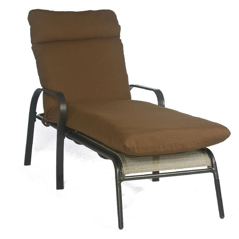 Bria Outdoor Brown Chaise Patio Lounge Chair Cushion Overstock c