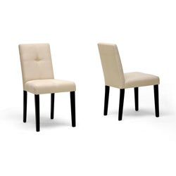 Elsa Beige Fabric Modern Dining Chairs (Set of 2)