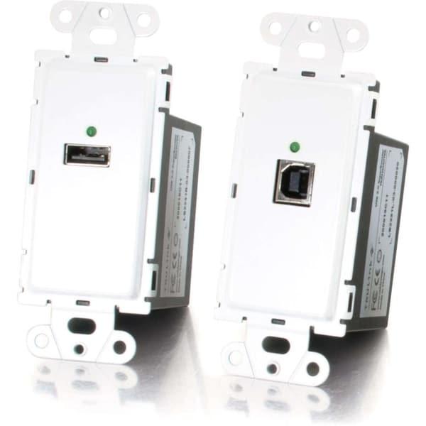 C2G TruLink USB 2.0 Superbooster Wall Plate Kit