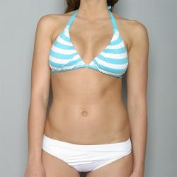 Perry Ellis Swim Women's Striped Halter Bikini